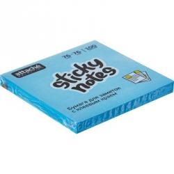 Стикеры клейкие Attache Selection 76x76 мм голубые неоновые 100 листов
