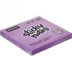 Стикеры клейкие Attache Selection 76x76 мм фиолетовые неоновые 100 листов