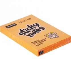 Стикеры Attache Selection 76x51 мм оранжевые неоновые 100 листов