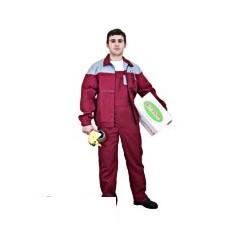 Костюм мужской Рейнир+ (куртка/полукомб.), цвет бордо/серый (р56-58,р.182-188)
