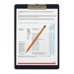 Папка-планшет Attache пластиковая черная (1.2 мм)