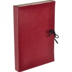 Папка архивная с завязками складная, бумвинил, 3,5 см, красная