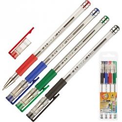 Набор шариковых ручек Beifa AA999-4 (толщина линии 0.7 мм, 4 штуки: черная, синяя, зеленая, красная)