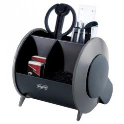 Настольный набор Attache черный/серый 10 предметов вращающийся
