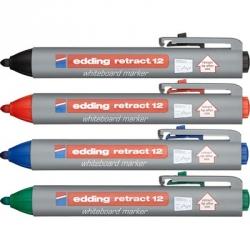 Набор маркеров для досок Edding retract 12, 1,5-3 мм, 4 шт.