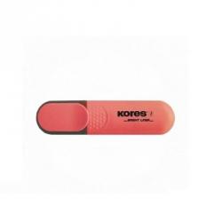 Текстовыделитель Kores красный (толщина линии 1-5 мм)