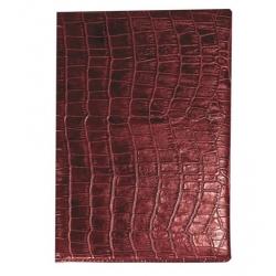 Алфавитная книжка Croco (А6, 85х130мм, кожзам, цвет бордо)