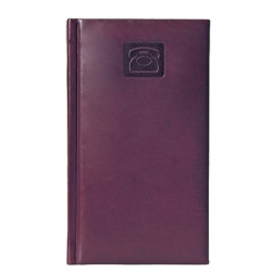 Алфавитная книжка Attache Каньон (А6, 92х160мм, кожзам, бордо)