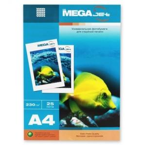 Бумага для струйной печати MEGA Jet (матовая, А4, 230г/м2, 25 листов)