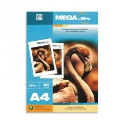 Бумага для струйной печати MEGA Jet Glossy (глянцевая, А4, 180г/м2, 50 листов)