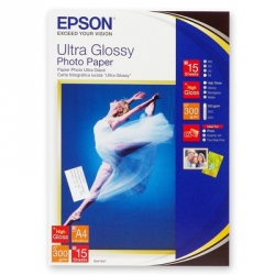 Фотобумага Epson Ultra Photo S041927 (А4, 300г/м2, 15 листов)