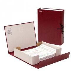 Короб архивный Attache А4 бумвинил красный (складной, 7 см, бумвинил, 2 х/б завязки)