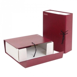 Короб архивный Attache А4 бумвинил красный (складной, 10 см, 2 х/б завязки)