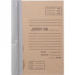 Папка для переплета картон/бумвинил бурая 310х216х104 мм