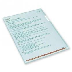 Папка-уголок пластиковая зеленая 100 мкм (10 штук в упаковке)