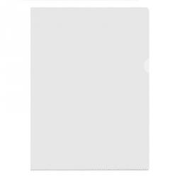 Папка-уголок пластиковая прозрачная 100 мкм (10 штук в упаковке)