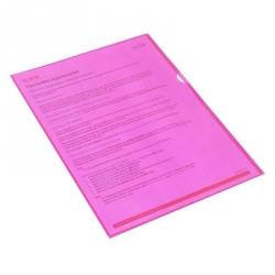 Папка-уголок пластиковая красная 100 мкм (10 штук в упаковке)