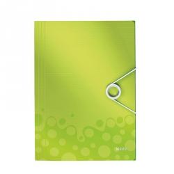 Папка-короб на резинках Leitz Wow А4 пластиковая зеленая (0.7 мм, до 150 листов)