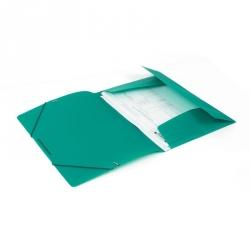 Папка на резинках Attache А4 пластиковая зеленая (0.45 мм, до 100 листов)