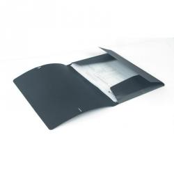 Папка на резинках Attache А4 пластиковая черная (0.45 мм, до 100 листов)