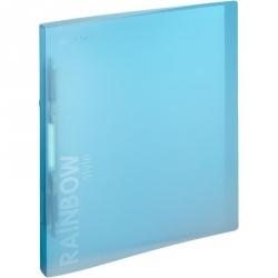 Папка-скоросшиватель с пружинным механизмом Attache Rainbow Style пластиковая А4 голубая (0.45 мм, до 150 листов)