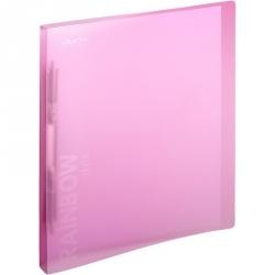 Папка-скоросшиватель с пружинным механизмом Attache Rainbow Style пластиковая А4 розовая (0.45 мм, до 150 листов)