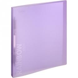 Папка-скоросшиватель с пружинным механизмом Attache Rainbow Style пластиковая А4 фиолетовая (0.45 мм, до 150 листов)
