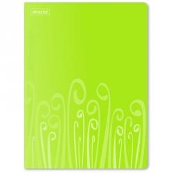 Папка-скоросшиватель с пружинным механизмом Attache Fantasy пластиковая А4 салатовая (0.45 мм, до 120 листов)