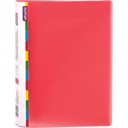 Папка-скоросшиватель с пружинным механизмом Attache Diagonal пластиковая А4 красная (0.6 мм, до 150 листов)