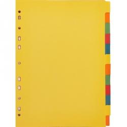 Разделитель листов Attache А4 картонный 12 листов цветной (297х210 мм)