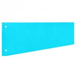 Разделитель листов Attache картонный 100 листов голубой (230x120 мм)