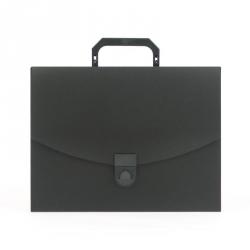 Папка-портфель Attache пластиковая A4 черная (250x370 мм)