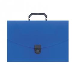 Папка-портфель Attache пластиковая A4 синяя (250x370 мм)