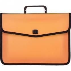 Папка-портфель Attache Fantasy пластиковая А4 оранжевая (370x280 мм)