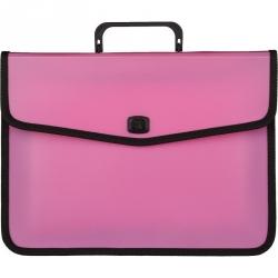 Папка-портфель Attache Fantasy пластиковая А4 розовая (370x280 мм)