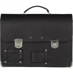 Папка-портфель специальная из кожзаменителя черная (380x290 мм, 2 отделения)