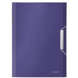 Папка-портфель Leitz Style пластиковая А4 синий титан (254x330 мм, 6 отделений)