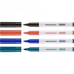 Набор маркеров для досок ATTACHE набор 4 цв. 1-3мм