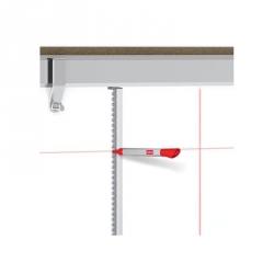 Набор принадлежностей для магнитно-маркерной доски, для черчения линий (длина линейки - 90 см), Nobo