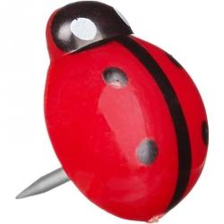 Кнопки силовые Attache Selection Божья коровка 10 мм (20 штук в упаковке)