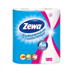 Полотенца бумажные ZEWA 2-сл.,белые с рис., 2 рул./уп.