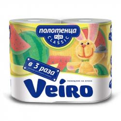 Полотенца бумажные Linia VEIRO Classic Plus 2рул./уп 2сл 6п2
