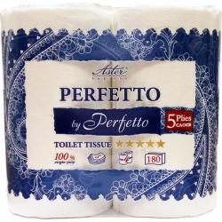 Бумага туалетная Aster Perfetto 5-слойная белая ароматизированная (4 рулона в упаковке)