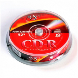 Диск CD-R VS 700 Mb 52x (10 штук в упаковке)