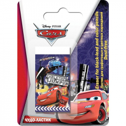 Ластик для графит/цветных каранд-й Dust-free Cars CRAB-US1-215-BL1