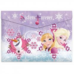 Папка для тетрадей Frozen пласт. кнопка А4 42521811