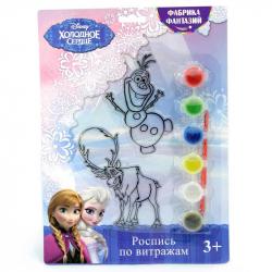 Набор для творчества Disney Холодное сердце витраж Олаф и Свен