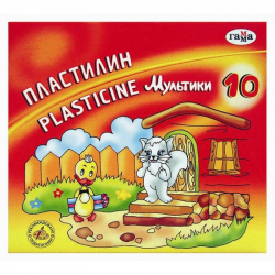Пластилин Мультики 10 цветов со стеком