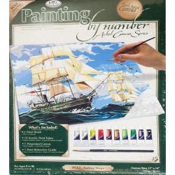 Картина Парусники по номерам 280х350х15 мм 10 цветов с кистью