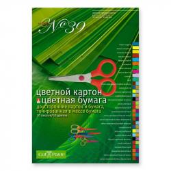 Набор цветной бумаги и картона Альт (А4, 30 листов, 50 цветов)